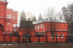 Central bank red brick building in Orel, Russia Stock Image