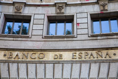 Central bank, Spain Royalty Free Stock Photos