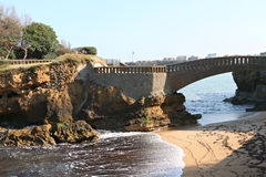Central beach of Biarritz Stock Photography