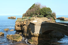 Central beach of Biarritz Royalty Free Stock Photography