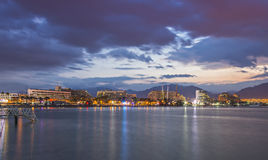 Central beach of Eilat at dawn Royalty Free Stock Photography