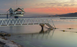 Central beach of Eilat at dawn Royalty Free Stock Images