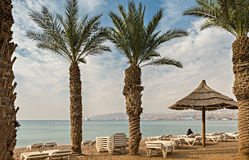 Central beach of Eilat Royalty Free Stock Photos