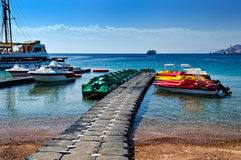 Central beach of Eilat, Israel Stock Photo