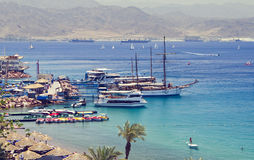 Central beach in Eilat, Israel Royalty Free Stock Photos