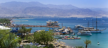 Central beach in Eilat, Israel Stock Photo