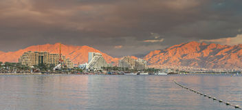 Central beach of Eilat, Israel Stock Image
