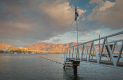 Central beach of Eilat Stock Images