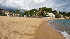 The central beach in Lloret de Mar in Spain Royalty Free Stock Photography