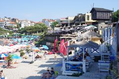 Central beach in Sozopol, Bulgaria. Located near the old part of the town Royalty Free Stock Image