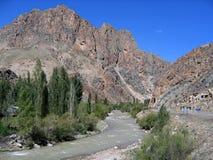 central berömd värld för bergvägkalkon Royaltyfri Foto