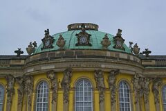 Central bow of Sanssouci Royalty Free Stock Photos