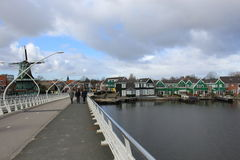 Central bridge of Zaanse Schans Stock Image