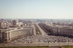 Bucharest panorama. Central Bucharest, Romania, seen from above Royalty Free Stock Photos