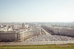 Bucharest panorama. Central Bucharest, Romania, seen from above Royalty Free Stock Photo