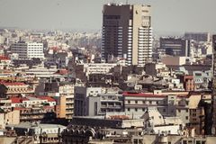 Bucharest panorama. Central Bucharest, Romania, seen from above Royalty Free Stock Images