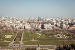 Bucharest panorama. Central Bucharest, Romania, seen from above Royalty Free Stock Photography