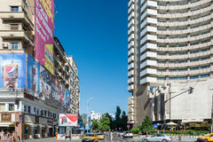 Central Bucharest View On Gheorghe Magheru Boulevard Stock Photos