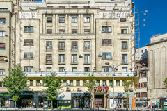 Central Bucharest View On Gheorghe Magheru Boulevard Royalty Free Stock Photo