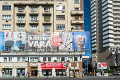 Central Bucharest View On Gheorghe Magheru Boulevard Stock Images