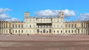 The central building of the Great Gatchina Palace near Saint Pet Royalty Free Stock Photo
