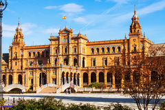 Central building  of Plaza de Espana. Sevilla Royalty Free Stock Image