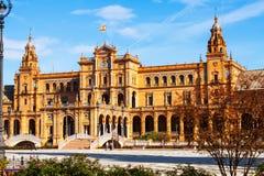 Central building  of Plaza de Espana. Sevilla Royalty Free Stock Image