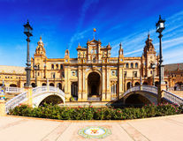 Central building  at  Plaza de Espana. Seville Stock Image