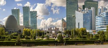 Central bulval in Astana. Kazakhstan. The photo was taken 30.09.2018 stock images