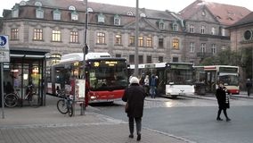 Central bus station. In Germany stock video footage
