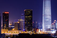 Central business of district in beijing Royalty Free Stock Photo
