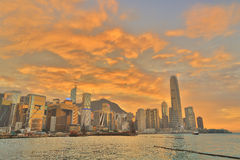 Central business district in Hong Kong Royalty Free Stock Images