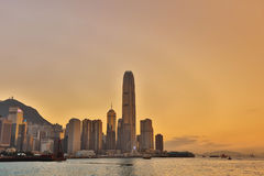 Central business district in Hong Kong Stock Image