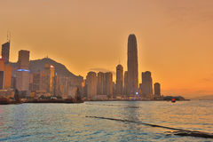 Central business district in Hong Kong Stock Photo