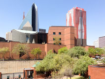 Central Business District - Johannesburg, South Africa. Johannesburg, South Africa - September 12, 2012: Skyline in the Central Business District of Johannesburg royalty free stock image