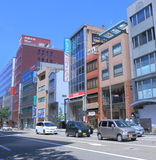 Central Business district in Kanazawa Japan. Minami Cho, Central Business district skyline in Kanazawa Japan Stock Images