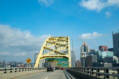 Central Business District of Pittsburgh. Pennsylvania, USA