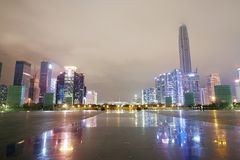 Central Business district, Shenzhen city, China , Royalty Free Stock Photos