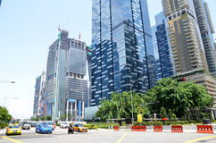 Central Business District in Singapore Royalty Free Stock Image