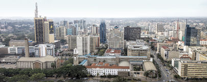 Central business district and skyline of Nairobi Royalty Free Stock Photos