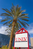Central Campus and Sign at the University of Nevada Royalty Free Stock Image