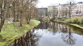 Central canal of Riga stock images