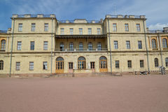 Central case of the Big Gatchina palace. Russia Royalty Free Stock Photo