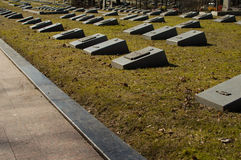 Central cemetery. Belarus. Minsk. Tombs of soldiers of ww2. Earl Stock Image