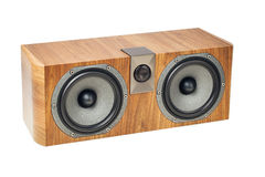 Central channel speaker, home theater audio component on white Stock Photo