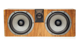 Central channel speaker, home theater audio component on white Stock Image