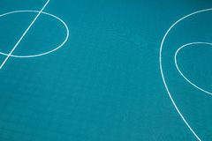 Central circle of a basketball court Stock Image