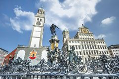 At the central city square. At the central square of Augsburg. Germany stock photos