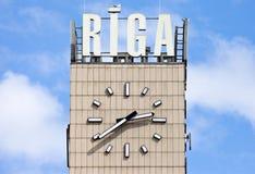Central Clock in Riga. The central Clock in Riga, Latvia Stock Photos