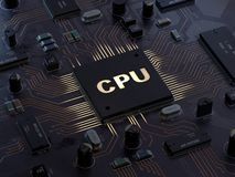 Central Computer Processors CPU concept royalty free illustration